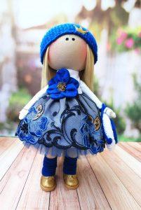 Кукла тыквоголовка ручной работы