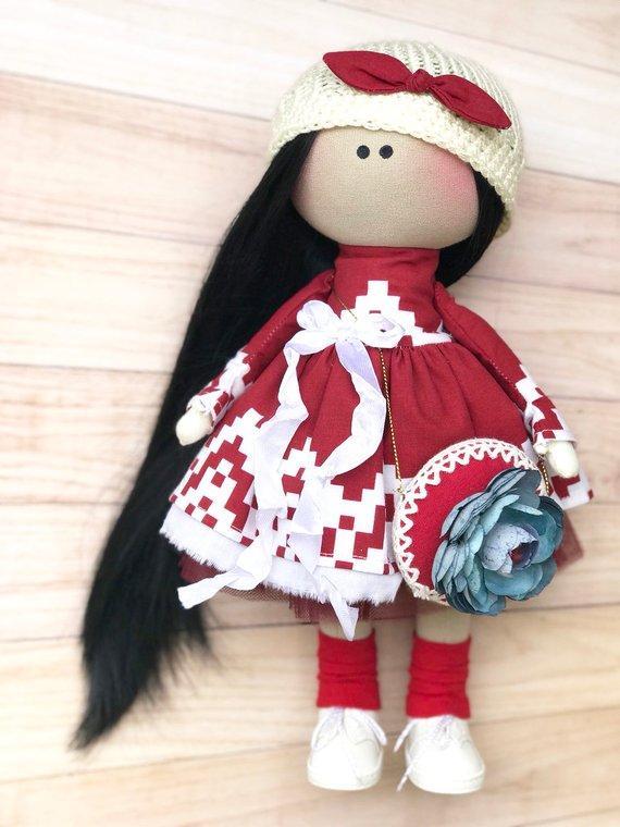 Кукла ручной работы хэнд-мейд
