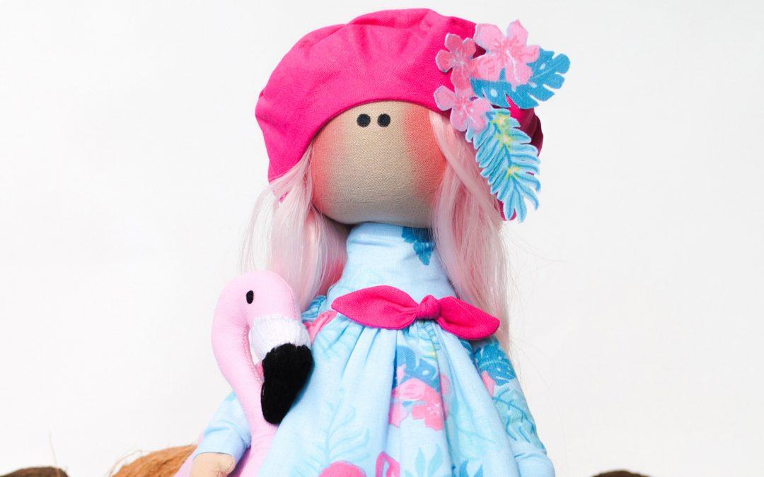 Кукла Тильда с фламинго (Фотогалерея)